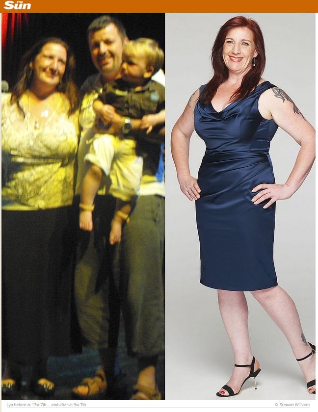 The Sun esittelee neljä eron jälkeen laihduttanutta naista.