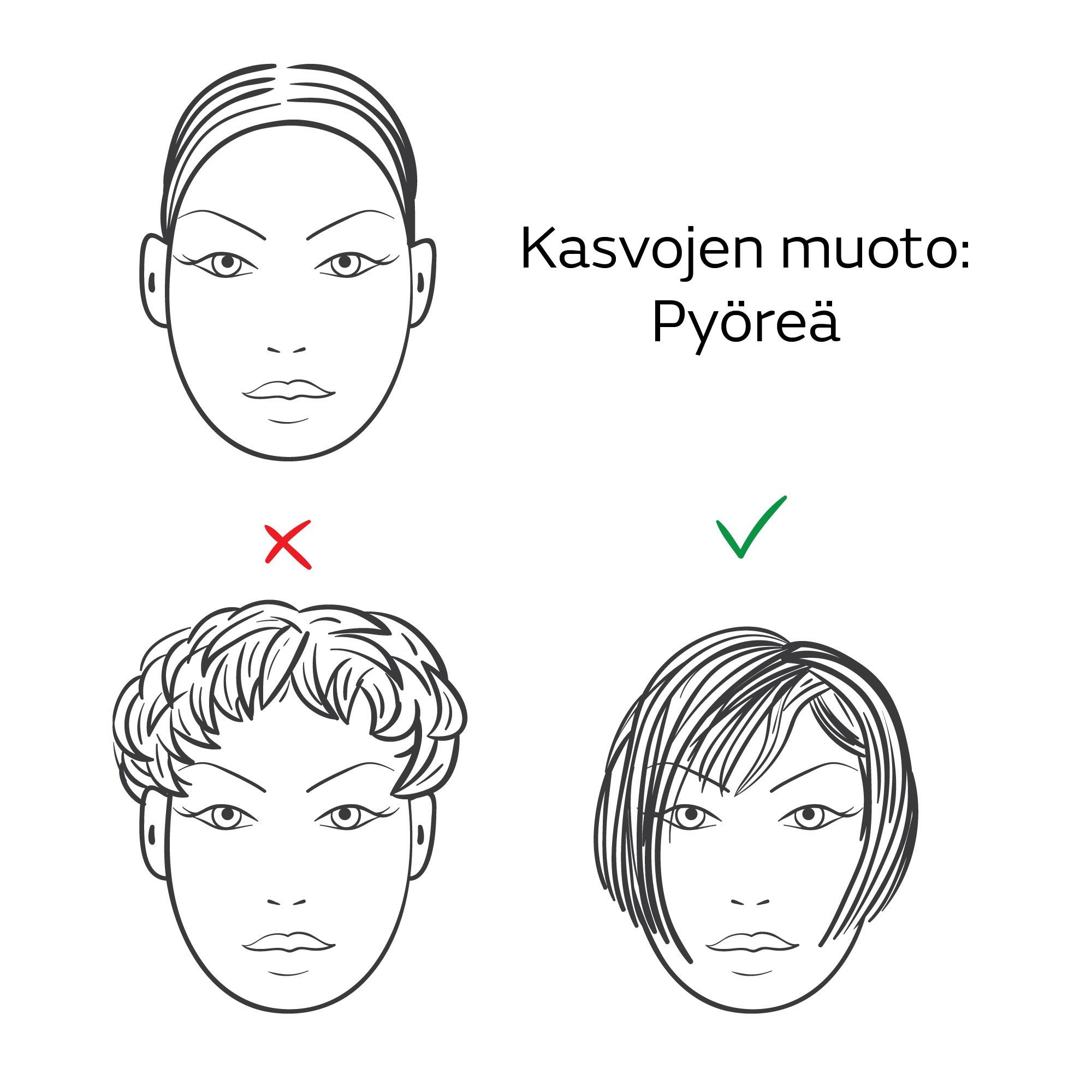 seksikäs nainen hiusmallit pyöreät kasvot