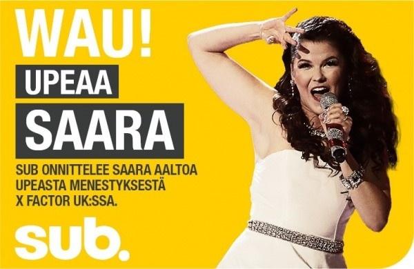 Ennätykset uusiksi! Saara Aallon X Factor -huipennusta seurasi 2,5 miljoonaa suomalaista Subilla ...
