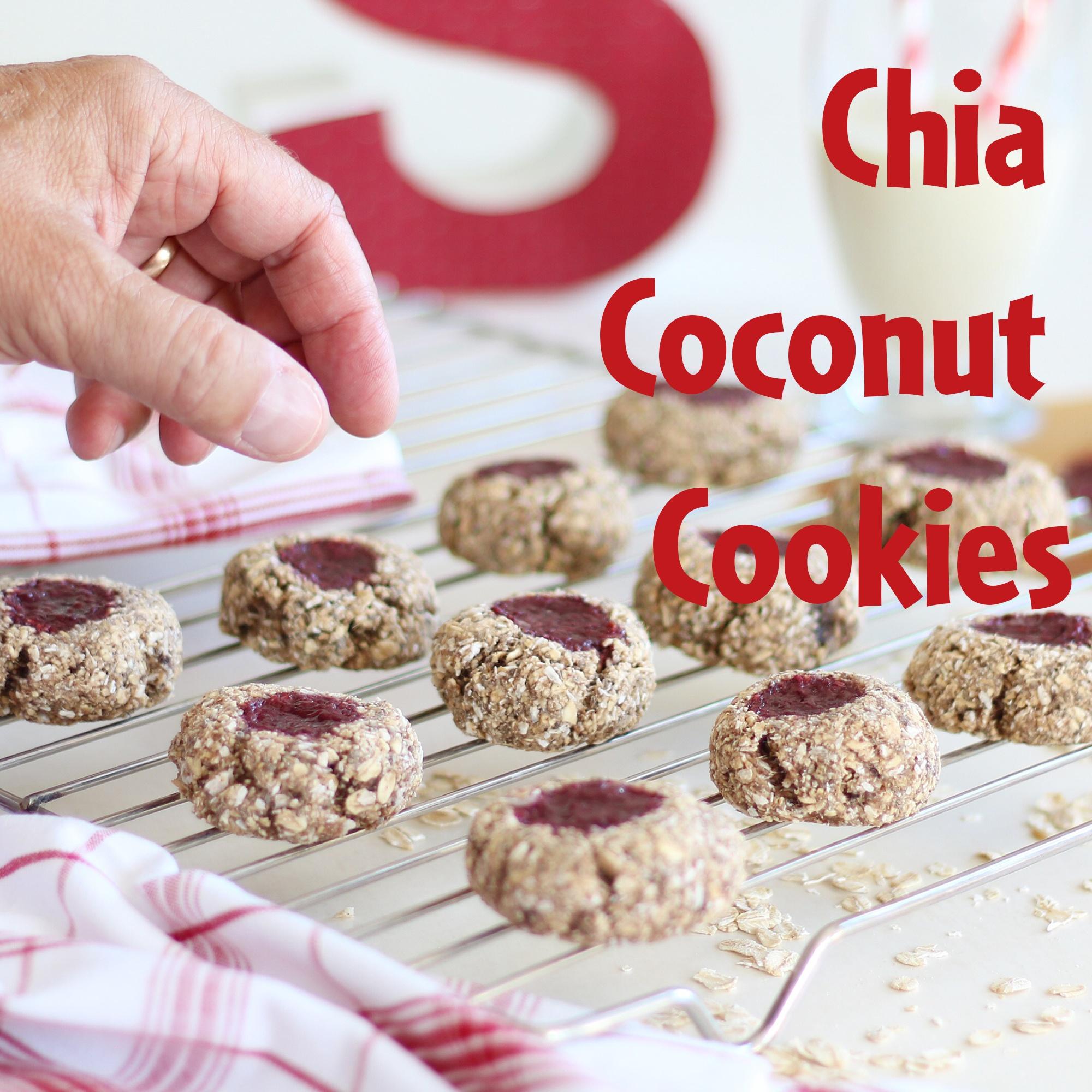 Semper gluteeniton Chia Coconut Cookies