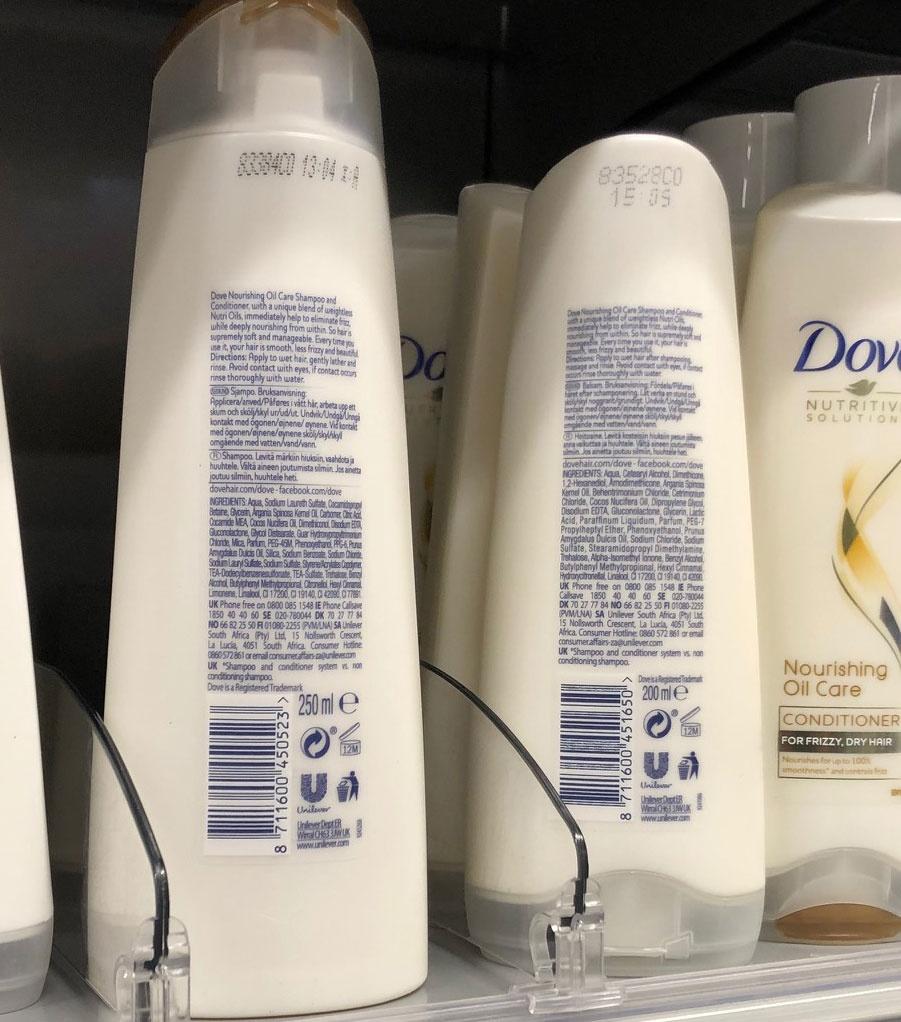 doven shampoo ja hoitoaine