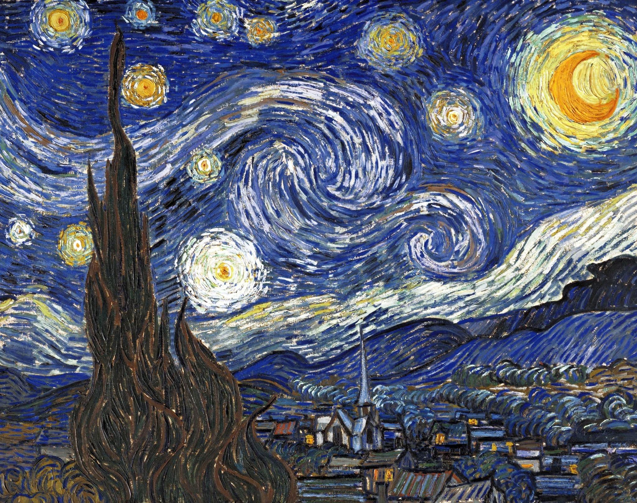 Vincent van Goghin maalaus Tähtikirkas yö.