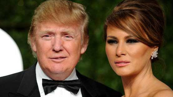 Melania Trump edustaa näyttävästi puolisonsa Donald Trumpin vierellä.