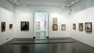 Schjerfbeckin teoksia Ateneumissa.