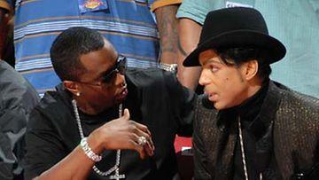 """Sean """"P. Diddy"""" Combs jutteli Princen kanssa."""