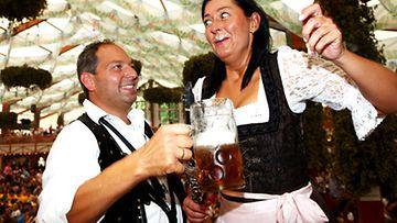 Oktoberfest Hofbraeuhausin teltassa 2009. Kuva: Getty/AOP/Johannes Simon