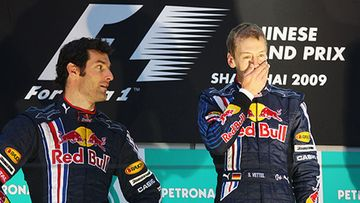 Red Bullin Mark Webber ja Sebastian Vettel, kuva: Mark Thompson/Getty Images
