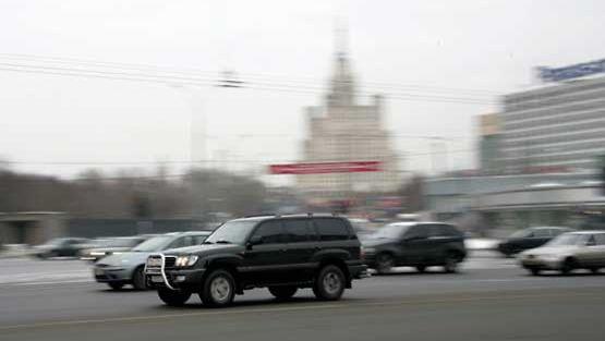 Luksusautoja Moskovassa.