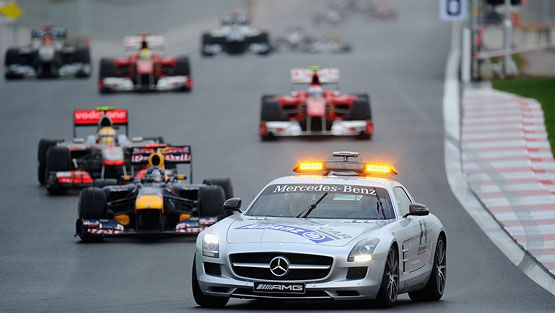 Turva-auto Korean GP:ssä.