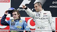 Fernando Alonso ja Juan Pablo Montoya (Kuva: Clive Mason/Getty Images)