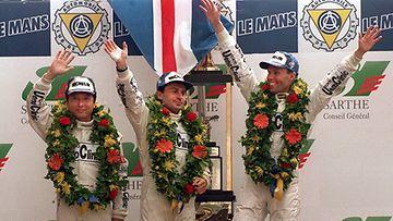 JJ Lehto voitti Le Mansin 24 tunnin ajon 1995.