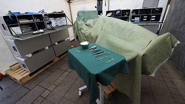 Kenttäsairaalassa voidaan suorittaa vaativiakin leikkauksia.