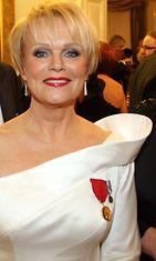 Katri Helena itesnäisyypäivän vastaanotolla 2007.