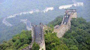 Kiinan muuri Pekingin pohjoispuolella.