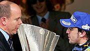 Monacon ruhtinas Albert II ja Fernando Alonso (Kuva: Bryn Lennon/Getty Images)