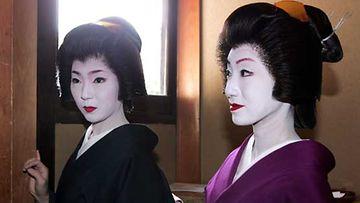 Geishoja japanilaisessa ravintolassa Kiotossa.