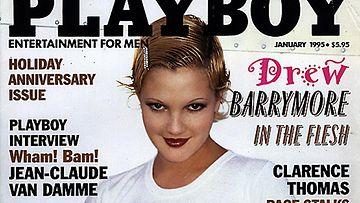 Drew Barrymore poseerasi Playboyssa.
