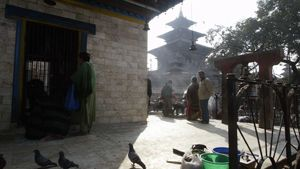 Durbar-aukio Kathmandussa.