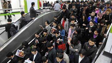 Kiinassa omasta tilasta joutuu taistelemaan.