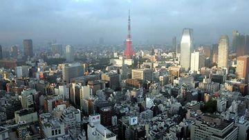 Näkymä Tokion keskustan ylle.