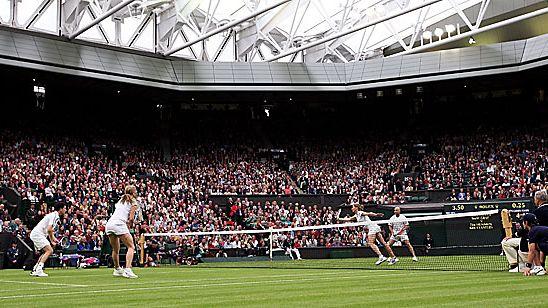 Sekanelinpeliä Wimbledonissa 2009. Kuva: Hamish Blair/GETTY.