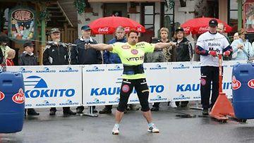 Kati Luoto on viisinkertainen Suomen vahvin nainen -kilpailun voittaja.