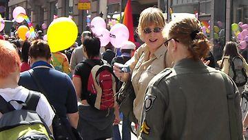 Milla Louhi Pride-tapahtumassa.