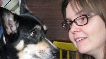 Tytti ja Milla-koira.
