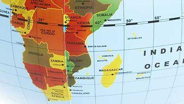 Mauritius sijaitsee kaukana Afrikan mantereesta.