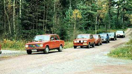 Lada-kerhon Syyspöräys-tapahtuma Porkkalassa vuonna 2001.