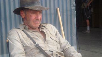 Harrison Ford Indiana Jonesina 21.6.2007 (Kuva: Steven Spielberg / www.indianajones.com)