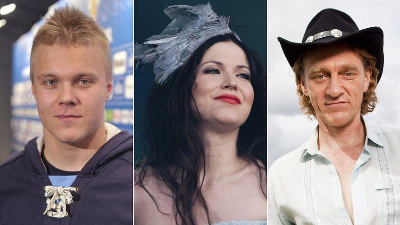 Mikael Granlund, Jenni Vartiainen ja Ville Virtanen