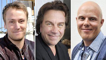 Heikki Paasonen, Mikko Kuustonen ja Aki Linnanahde ovat Movember-miehiä.