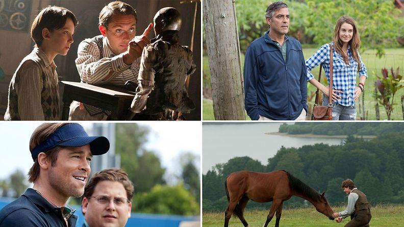 Hugo, The Descendants, Moneyball ja Sotahevonen kahmivat Oscar-ehdokkuuksia.