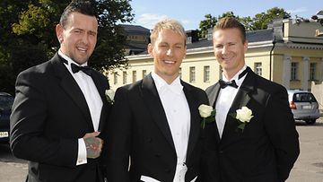 Esko Eerikäinen, Niko Nousiainen ja Mauno Ahonen.