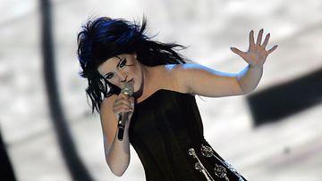 Hanna Pakarinen Euroviisuissa vuonna 2007.