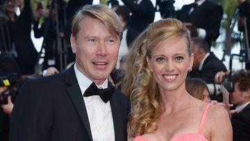 Mika Häkkinen ja Marketa Cannesissa.