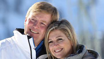 Hollannin prinssi Willem-Alexander ja prinsessa Maxima laskettelivat Itävallassa talvilomallaan