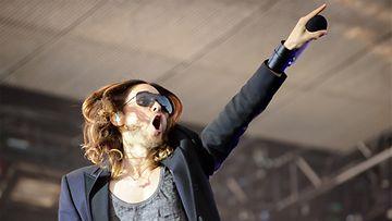 30 Seconds to Mars Rock the Beach -festivaaleilla Hietaniemen uimarannalla 28.06.2013.