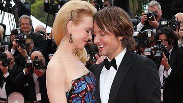 Keith Urban ja Nicole Kidman kuhertelivat Cannesissa.
