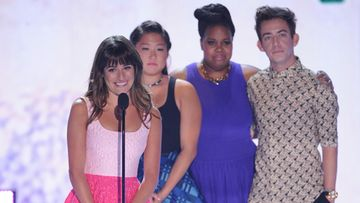 Lea Michele ja Glee-kasti Teen Choice -gaalassa.