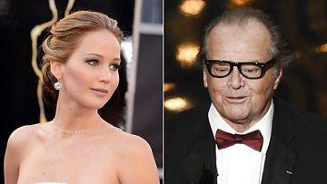 Jack Nicholson sai Jennifer Lawrencen hämmentymään.