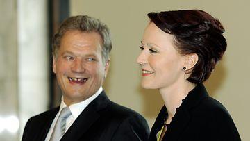 Sauli Niinistö ja Jenni Haukio (kuva:Lehtikuva)