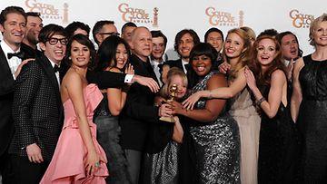 Glee rohmusi palkintoja Golden Globe -gaalassa.