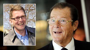 Roger Moore ja Matti Vanhanen (kuva: Lehtikuva)