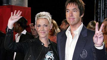 Roxette eli Marie Fredriksson ja Per Gessle vuonna 2009. (Kuva: Andreas Rentz/Getty Images)