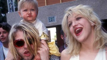 Kurt Cobain, Courtney Love ja Fraces Bean Cobain. (Kuva: WireImage)