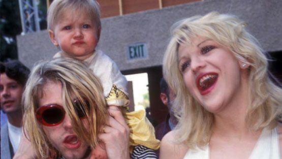 Kurt Cobain, Courtney Love ja Fraces Bean Cobain. (Kuva: WireImage)