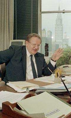 Martti Ahtisaari vuonna 1990 New Yorkissa (Lehtikuva)