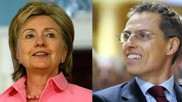 Hillary Clinton ja Alexander Stubb (kuva: Getty Images/ All Over Press ja Lehtikuva)
